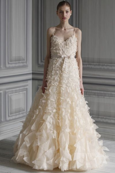 My dream wedding dress by Monique L\'huillier. Worn by Lemon Breeland ...