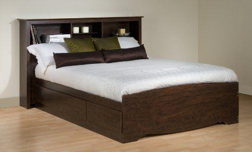 Full / Double 6 drawer Platform Storage Bed Espresso Prepac https ...