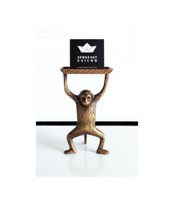 Vintage Brass Monkey Business Card Holder Soap By