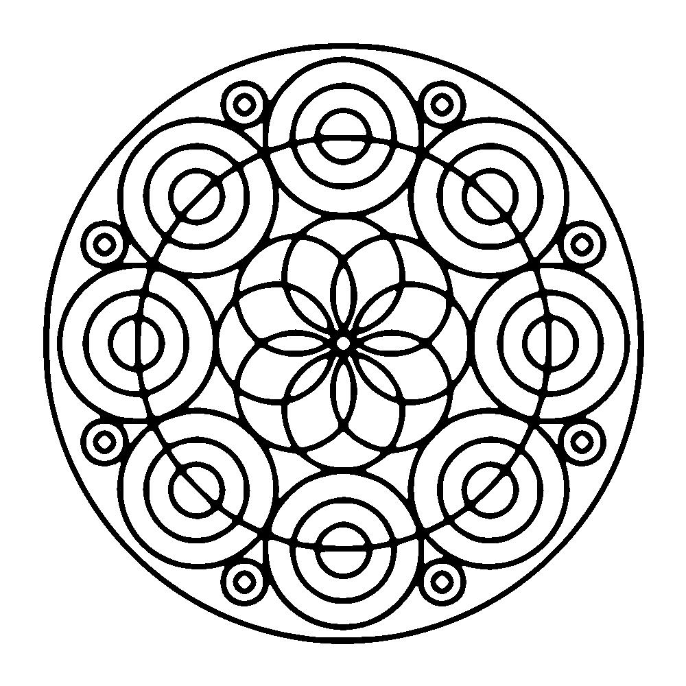 Circles Forming A Flower Cool Mandala Easy Mandalas For Kids