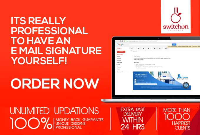 create email signature design for you by switchon