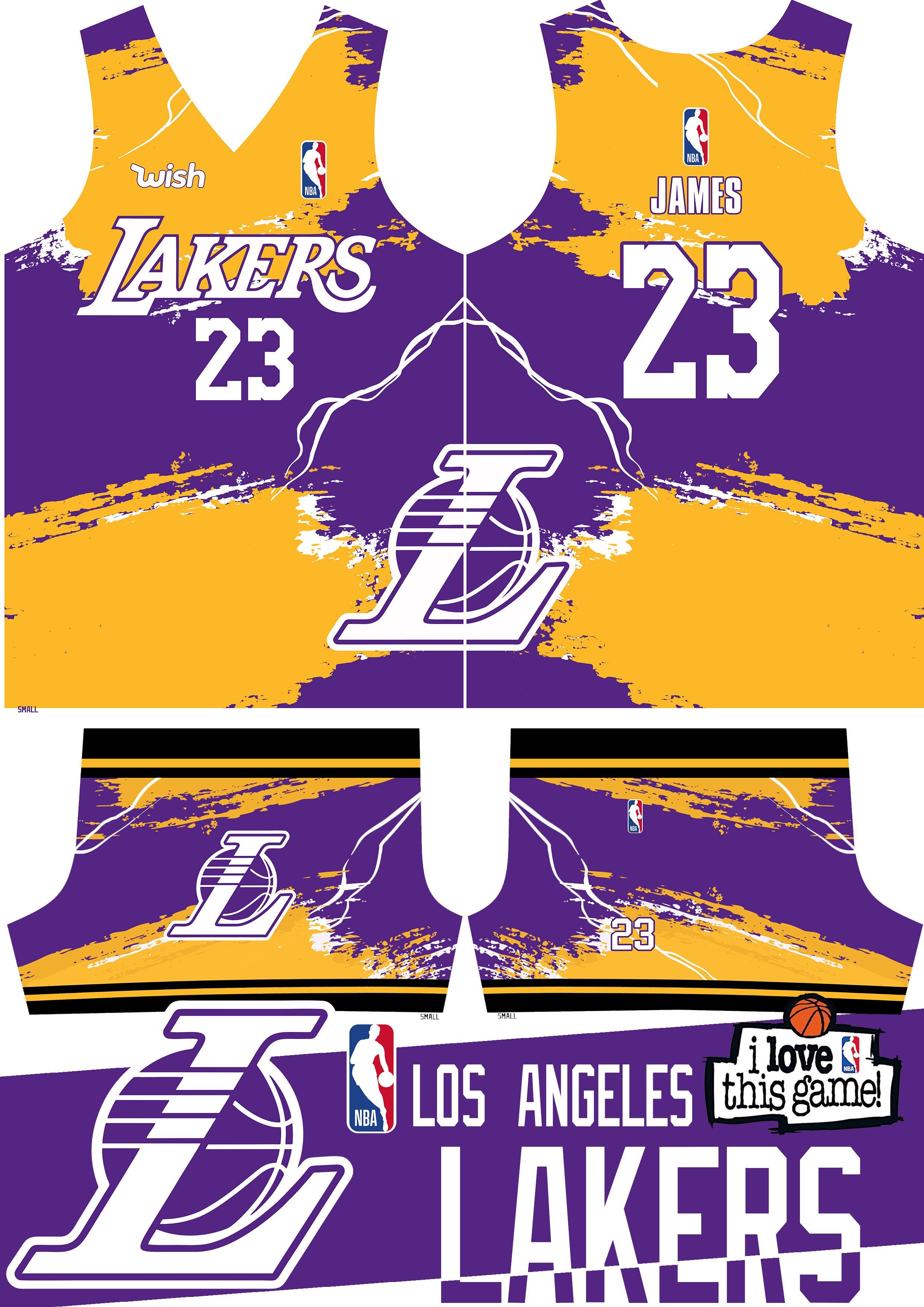 La Lakers Basketball Jersey Design In 2020 Jersey Design Basketball Jersey Basketball Design