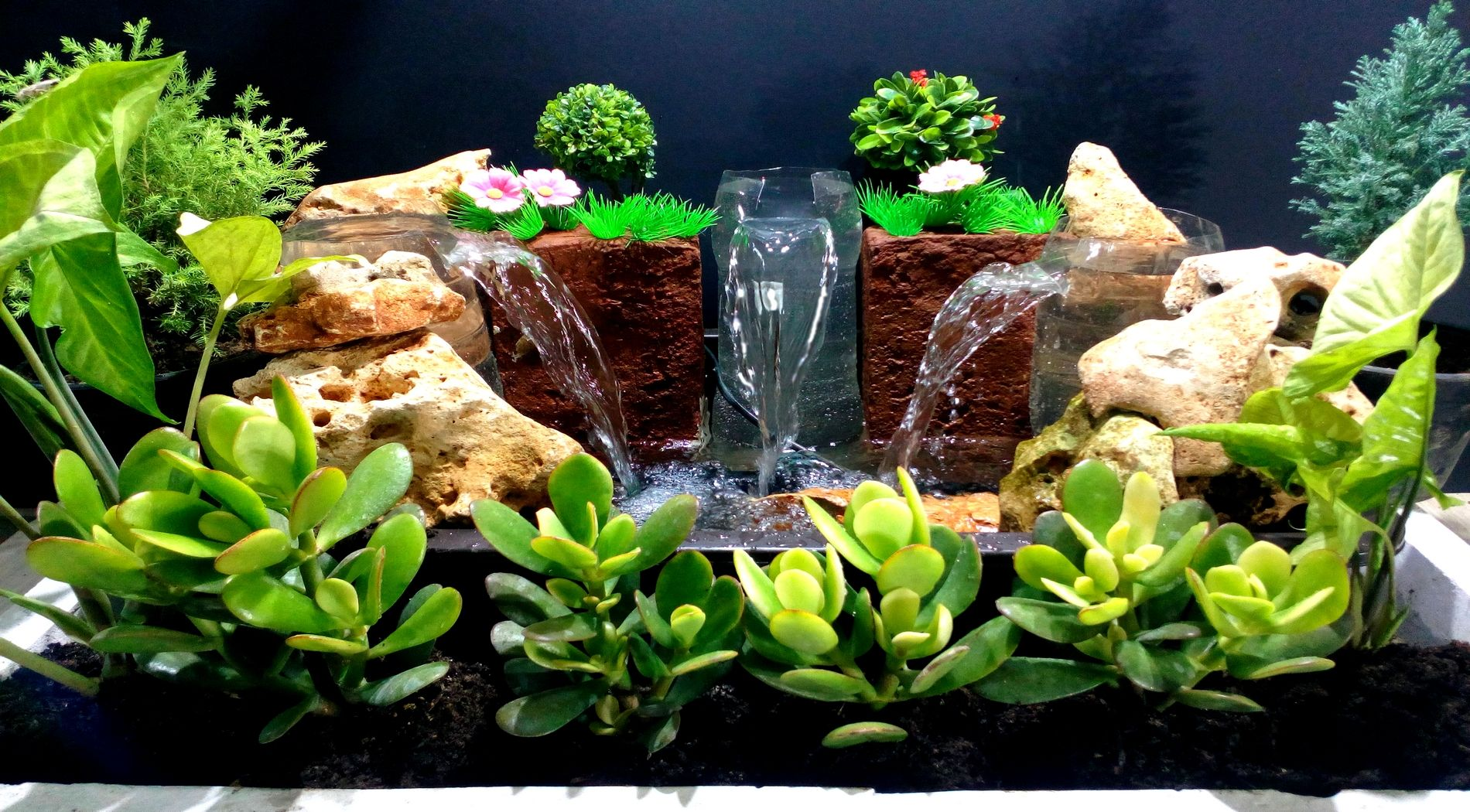 How To Make Triple Waterfall Fountain Used Plastic Bottles Diy