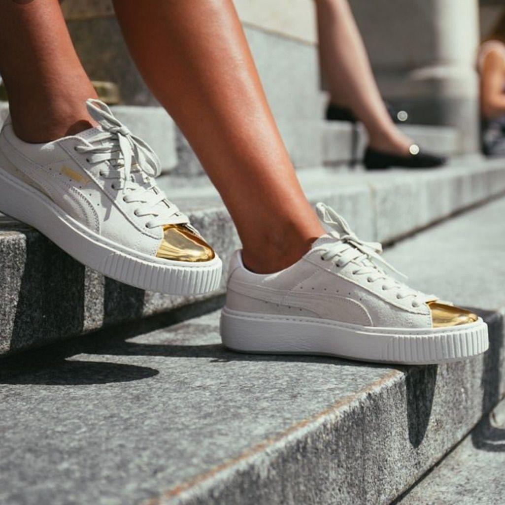 puma platform gold