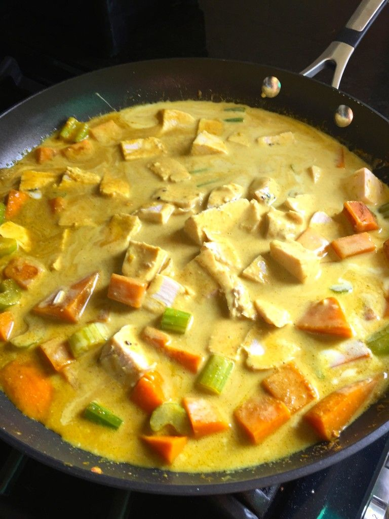 Coconut Chicken Curry Clean Eating Food Coconut