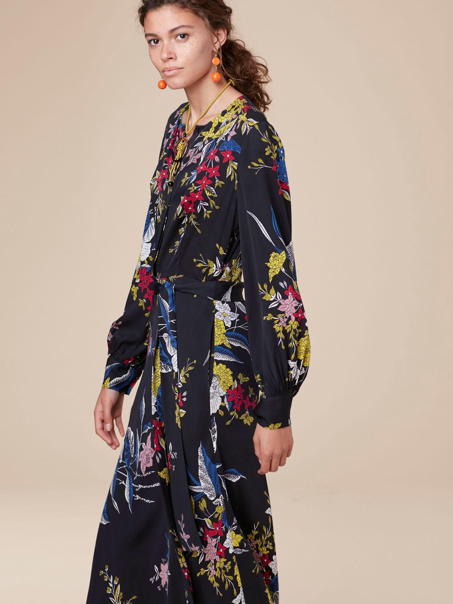 5655319e71f9 Diane Von Furstenberg Dvf Waist Tie Maxi Dress - Camden Black 10