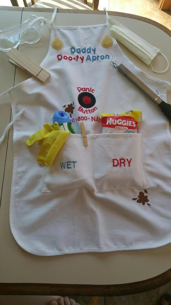 Embroidered Daddy Doo-ty (Duty) Apron - Perfect for new ...