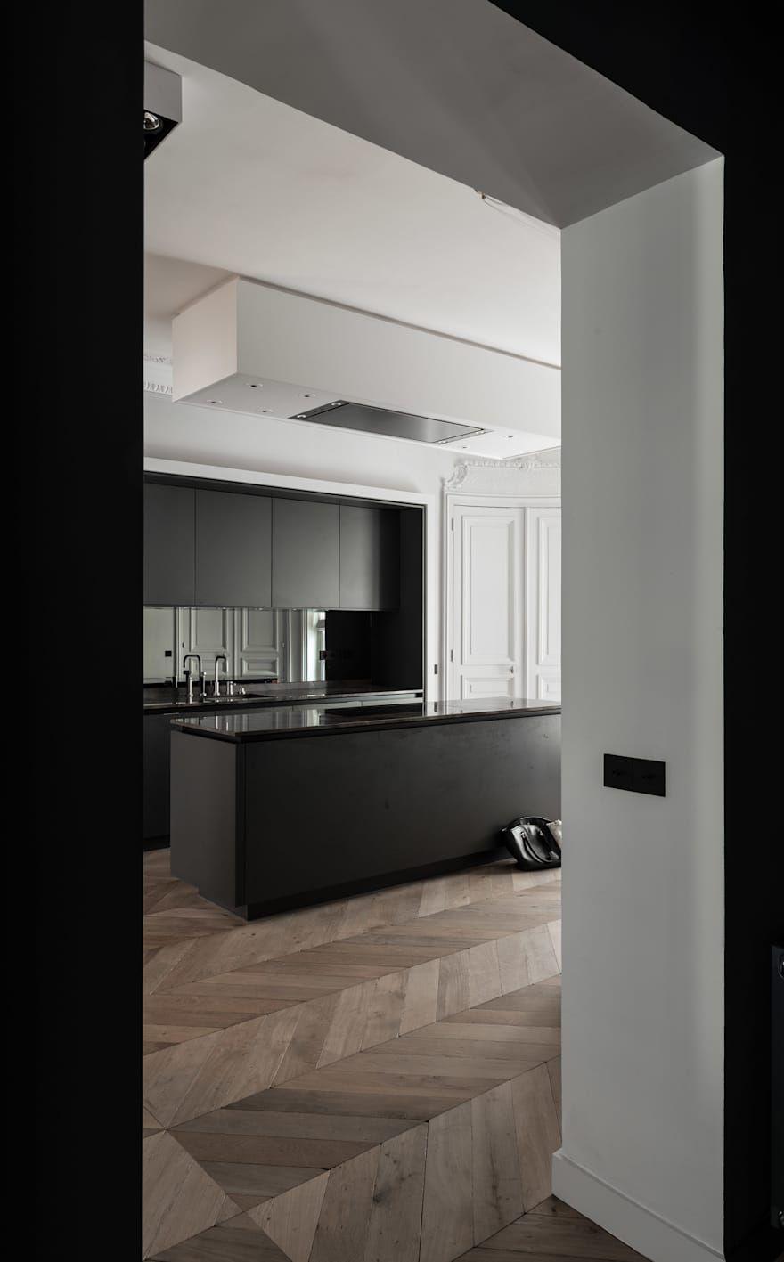 Paris 16 par César Pupat Architecture intérieure  Cuisine