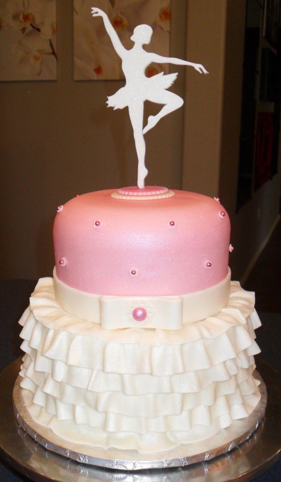 Ballerine cake topper Filles Anniversaire custom danseuse paillettes d/'or personnalisée