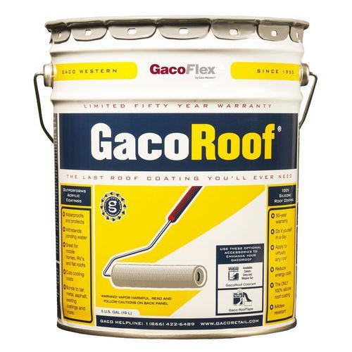 Gaco Roof 100 Silicone Roof Coating Roof Coating Roof Paint Enclosed Patio