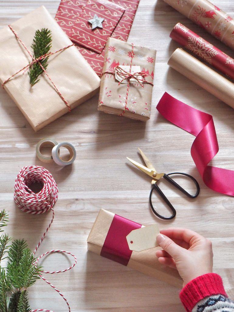 DIY mes paquets cadeaux pour Noël Gift wrapping, Noel
