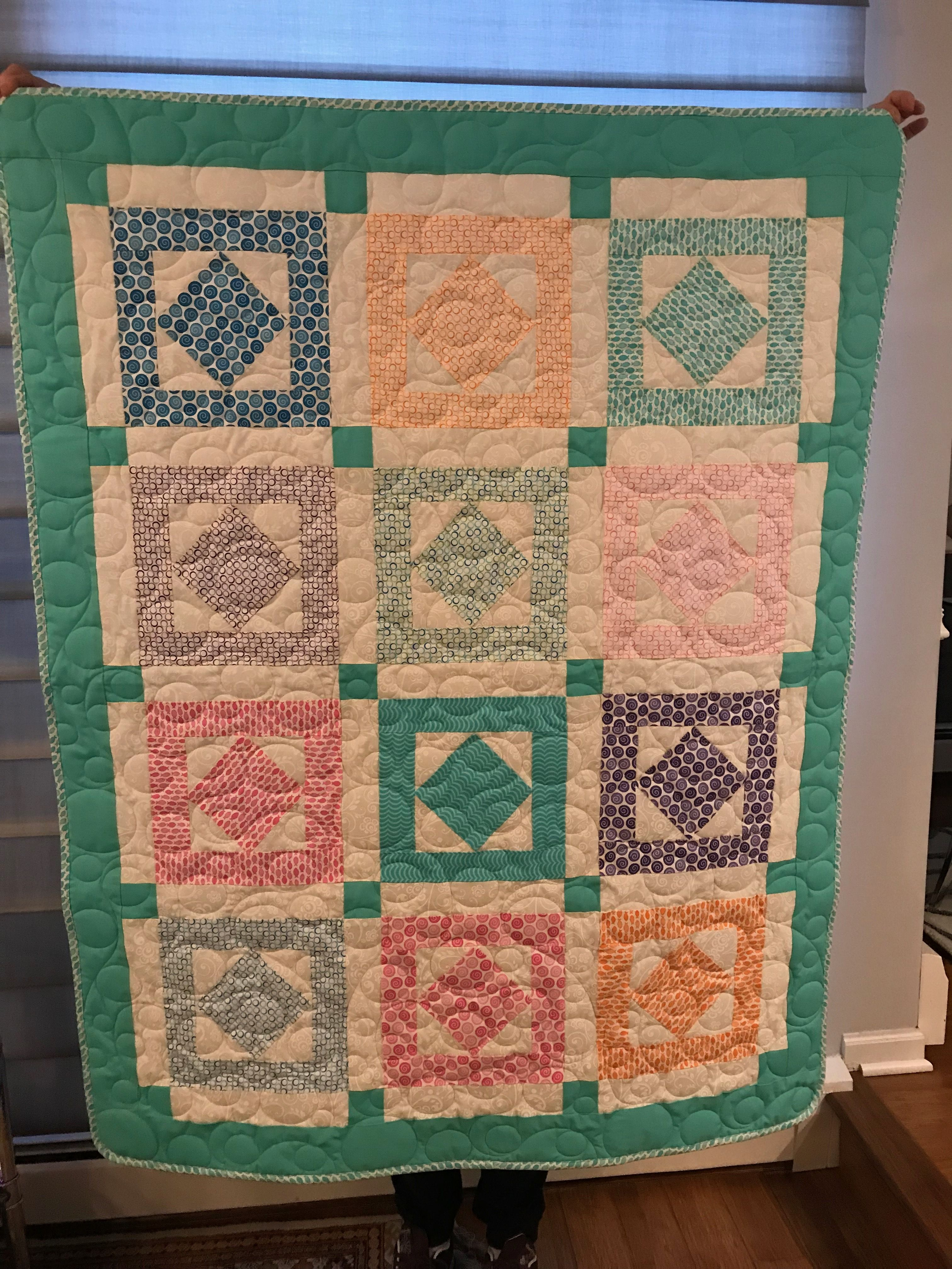 Baby Quilt ~ Jelly Roll ~ No Pattern ~ Being