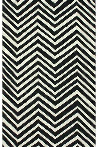 Nuloom HJHK04I-36056 Heritage Collection Black Finish Hand Hooked Chevron Area rug