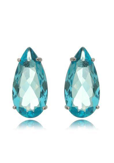 eb5315219cc brinco-gota-pedra-azul-clara-agua-marinha-semijoias-da-moda