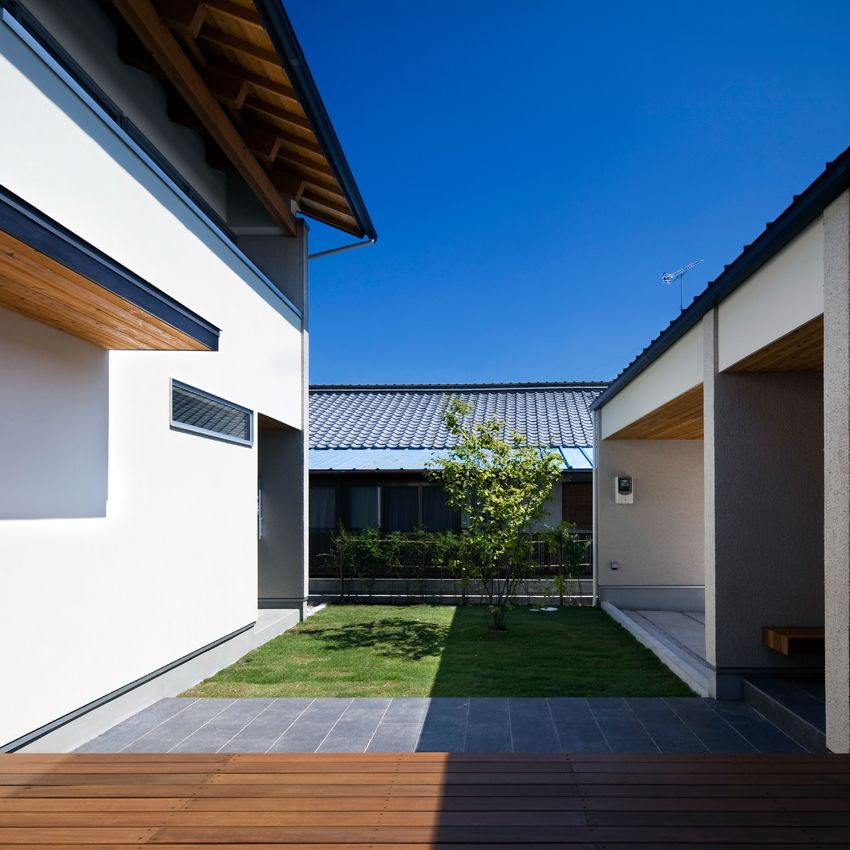 中庭を囲むコの字型の家 大輪建設 滋賀県 大津市 滋賀 京都の注文