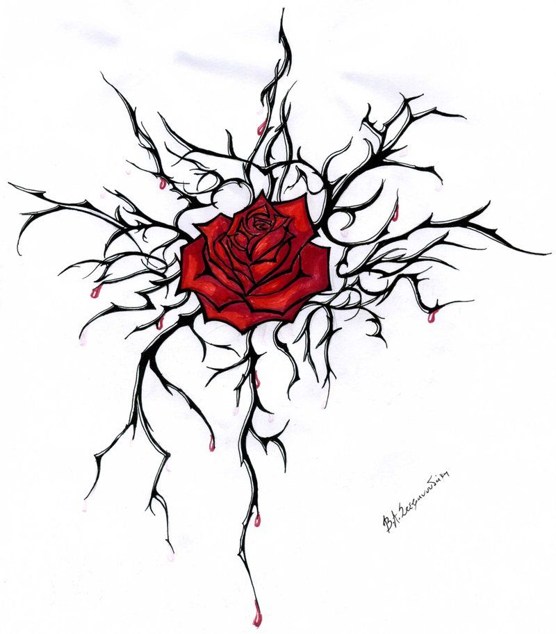 Love add a few more roses sharper thorns biggest rose right on badass tattoos ccuart Image collections