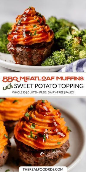 BBQ Meatloaf Muffins with Sweet Potato Topping images