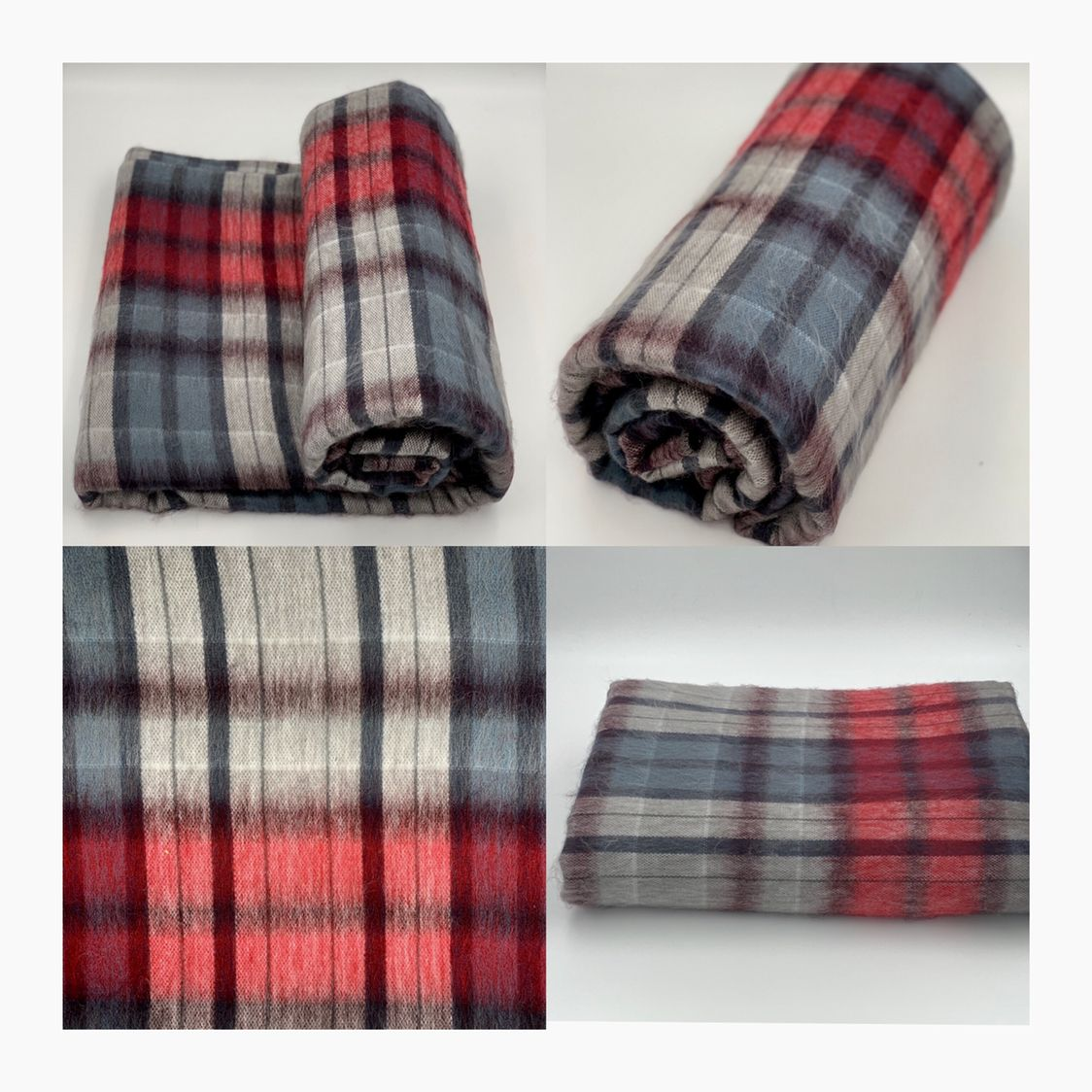 "Soft and Warm Tartan Baby ALPACA Wool Blanket Throw Plaid QUEEN PLUS 96/""x68/"""