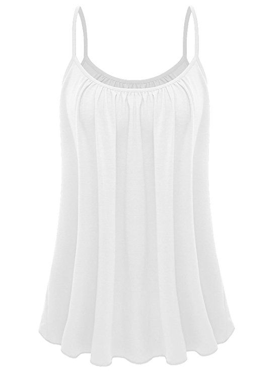 9fd6f2e4ee66f 7th Element Womens Plus Size Cami Basic Camisole Tank Top (White
