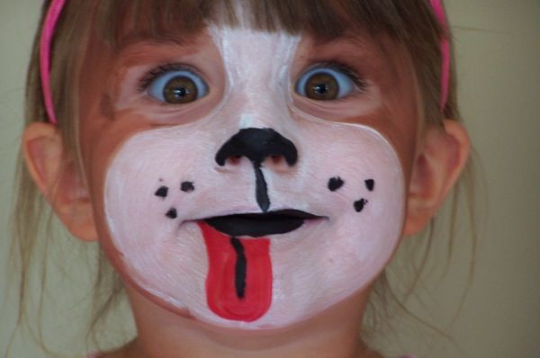 Dog Face Paints Face Painting Halloween Face Painting Easy