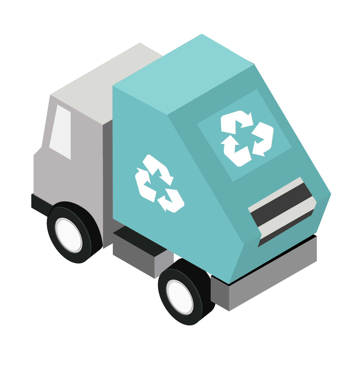 Toffu Isometric Pack Cars For More Https Www Toffu Co Download Link Https Www Toffu Co Downloads Garbage Truck Packing Car Police Cars