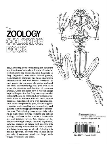 The Zoology Coloring Book Coloring Books Zoology Books