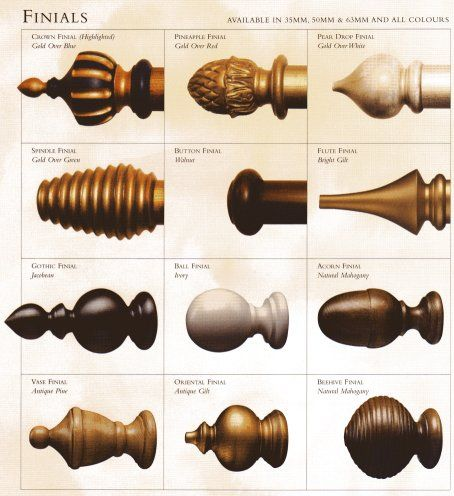 Traditional unfinished wood finials