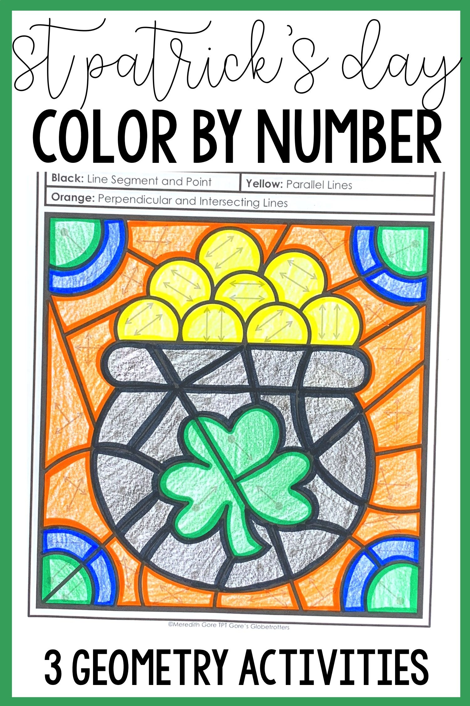 St Patrick S Day Math Color By Number Differentiated