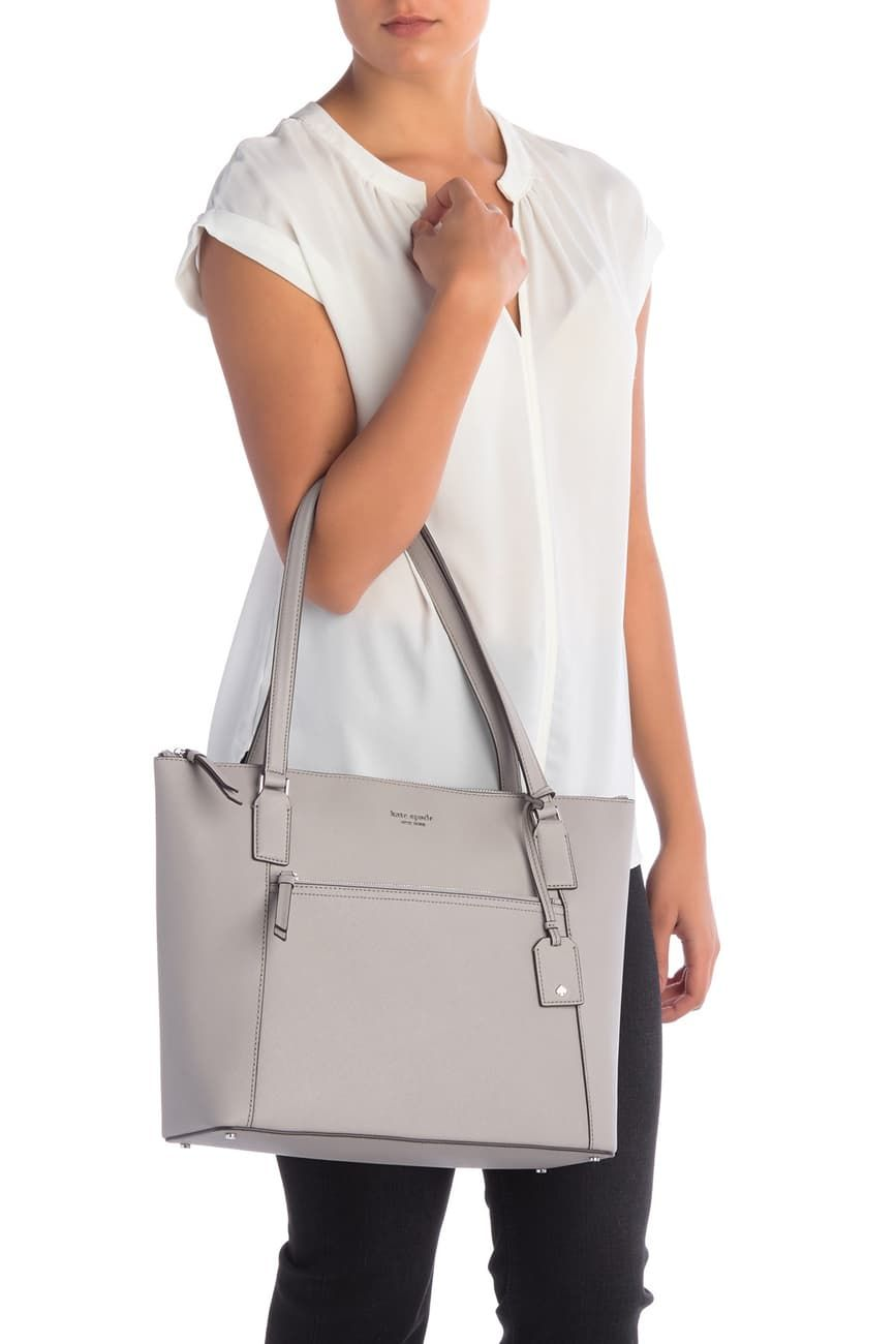 cameron leather pocket tote bag