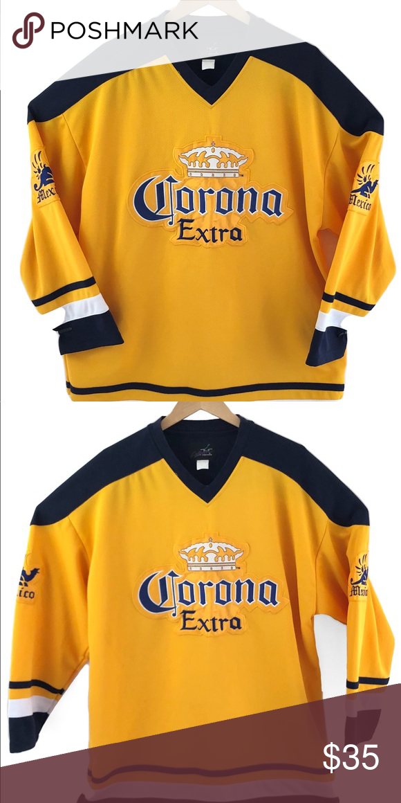 Corona Extra Hockey Jersey Preowned Excellent Condition Size XL Corona Other aa91807c8ee