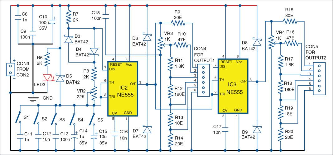 Signal generator and inverter using ne555 timers circuit diagram signal generator and inverter using ne555 timers ccuart Images