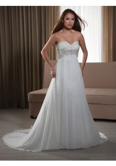 A-line Sweetheart Sleeveless Chiffon Wedding Dress #USAHS319 - See more at: http://www.beckydress.com/wedding-dresses.html?p=4#sthash.HndRJzsX.dpuf
