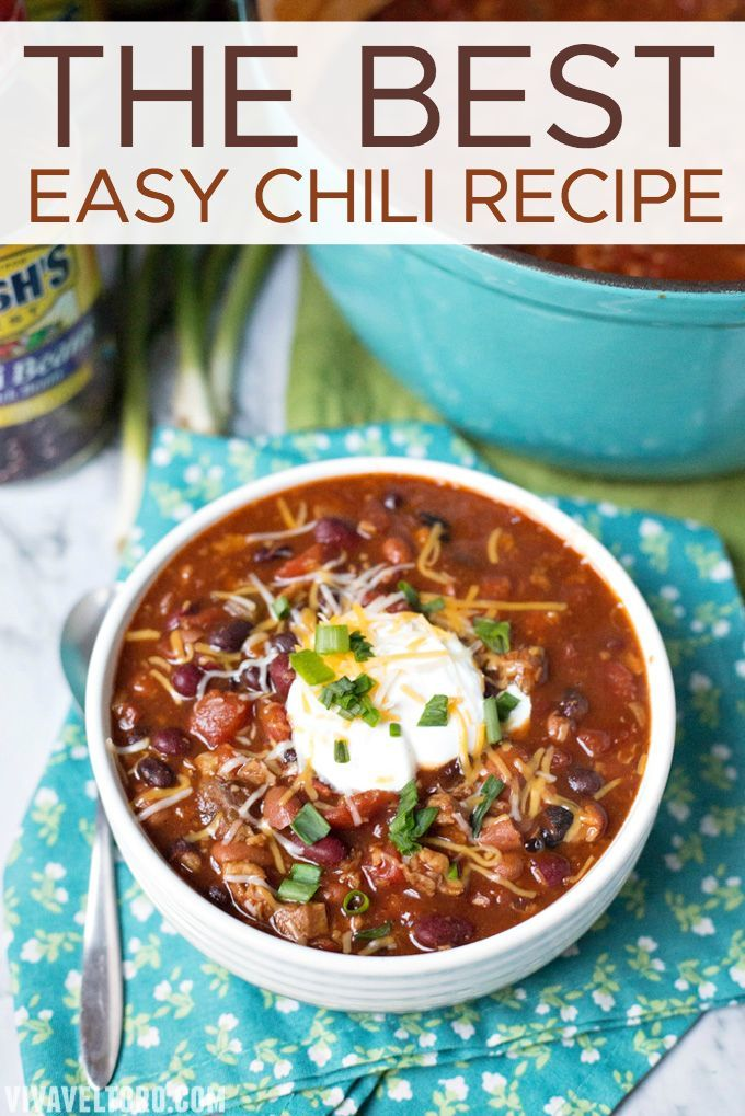 The best easy chili recipe with ground beef that you'll