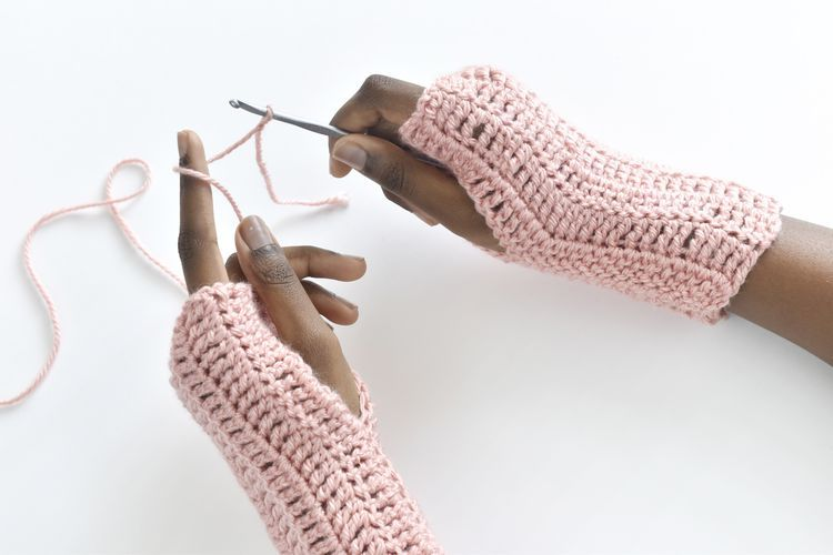 Make These Easy Fingerless Gloves With Treble Crochet