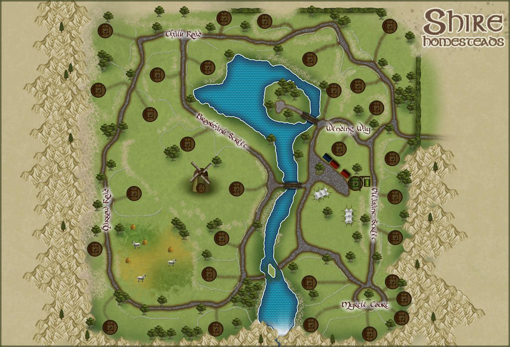 map of the shire homesteads map of