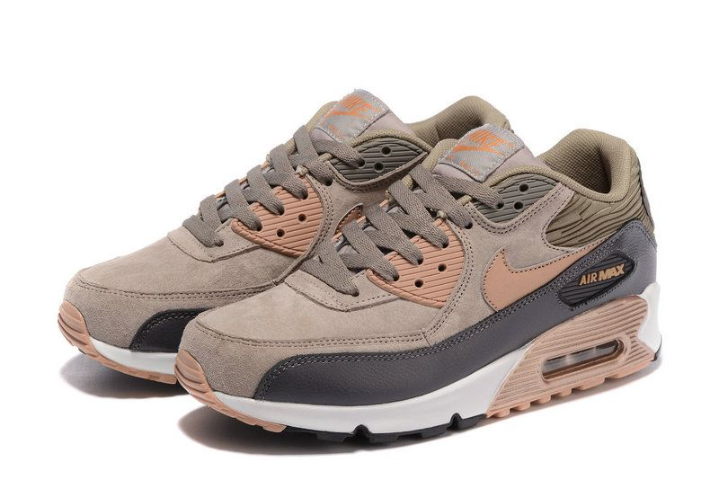 Nike Wmns Air Max 90 Leather Bronze Gold Metallic Red 768887