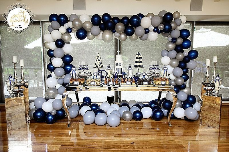 Navy Blue And White Christening Ideas Via Little Wish Parties Childrens Party Blog