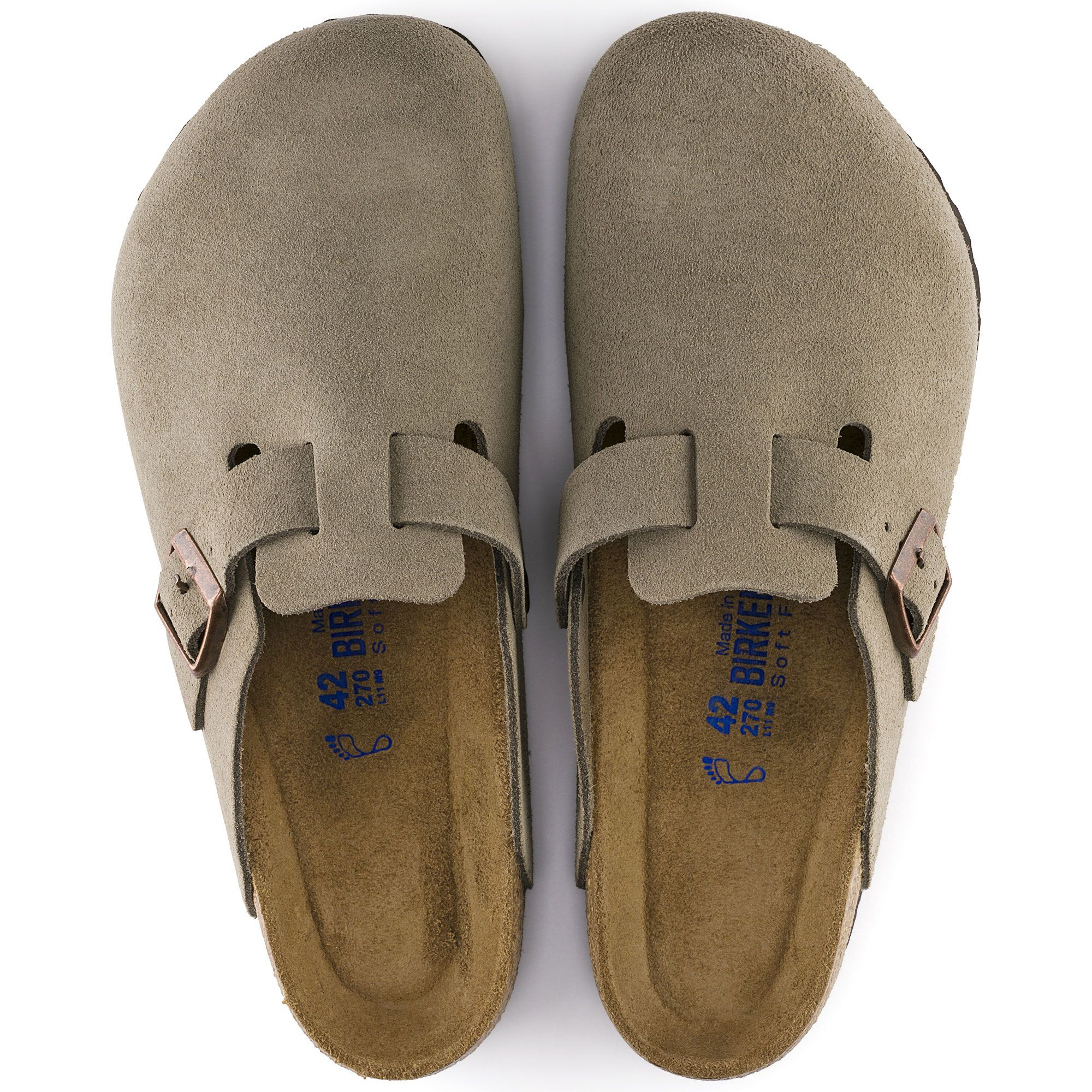 99392d5423f9 Boston Soft Footbed Taupe Suede. Boston Soft Footbed Taupe Suede  Birkenstock Sandals ...