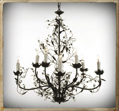 Image detail for black vine crystal 8 light chandelier metal art image detail for black vine crystal 8 light chandelier aloadofball Image collections