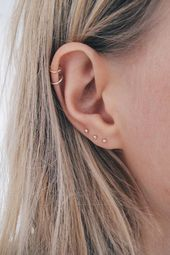 Tiny Gold Dot Studs - Very Small Gold Studs - 9ct Gold Studs, Second Piercing Studs, Solid Go...