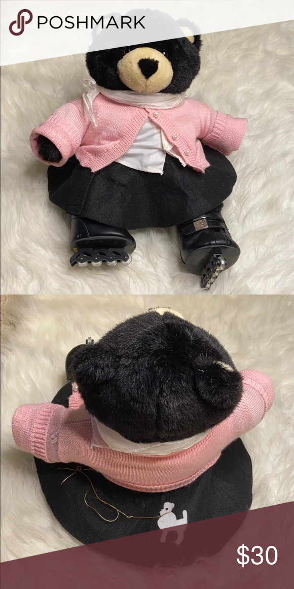 BUILD A BEAR SKATING OUTFIT WITH ROLLER SKATES