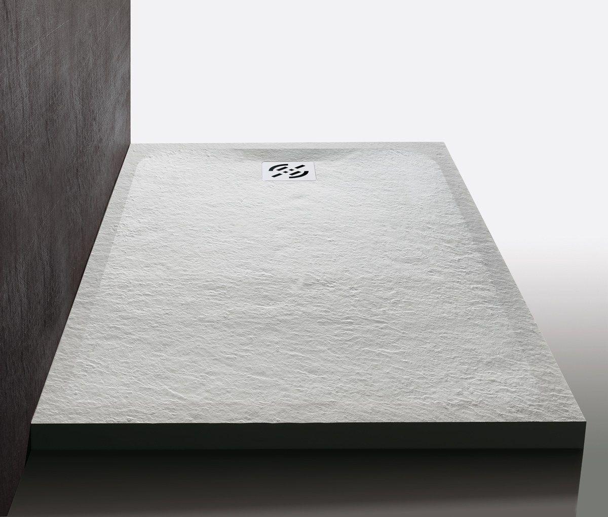 Samo stone piatto doccia antiscivolo in mineralmarmo 80 - Piatto doccia nero ...