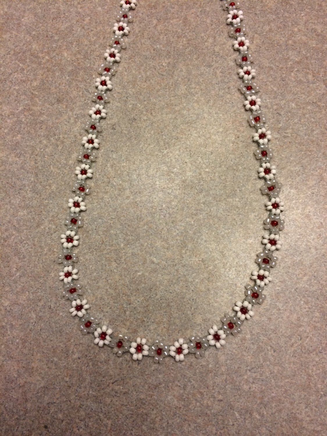 Photo of Daisychain beaded choker necklace fashion jewelry New Handmade MADE TO ORDER