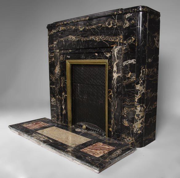 Rare cheminée Art Déco des années 1930 en marbre Portor | Cheminée ...