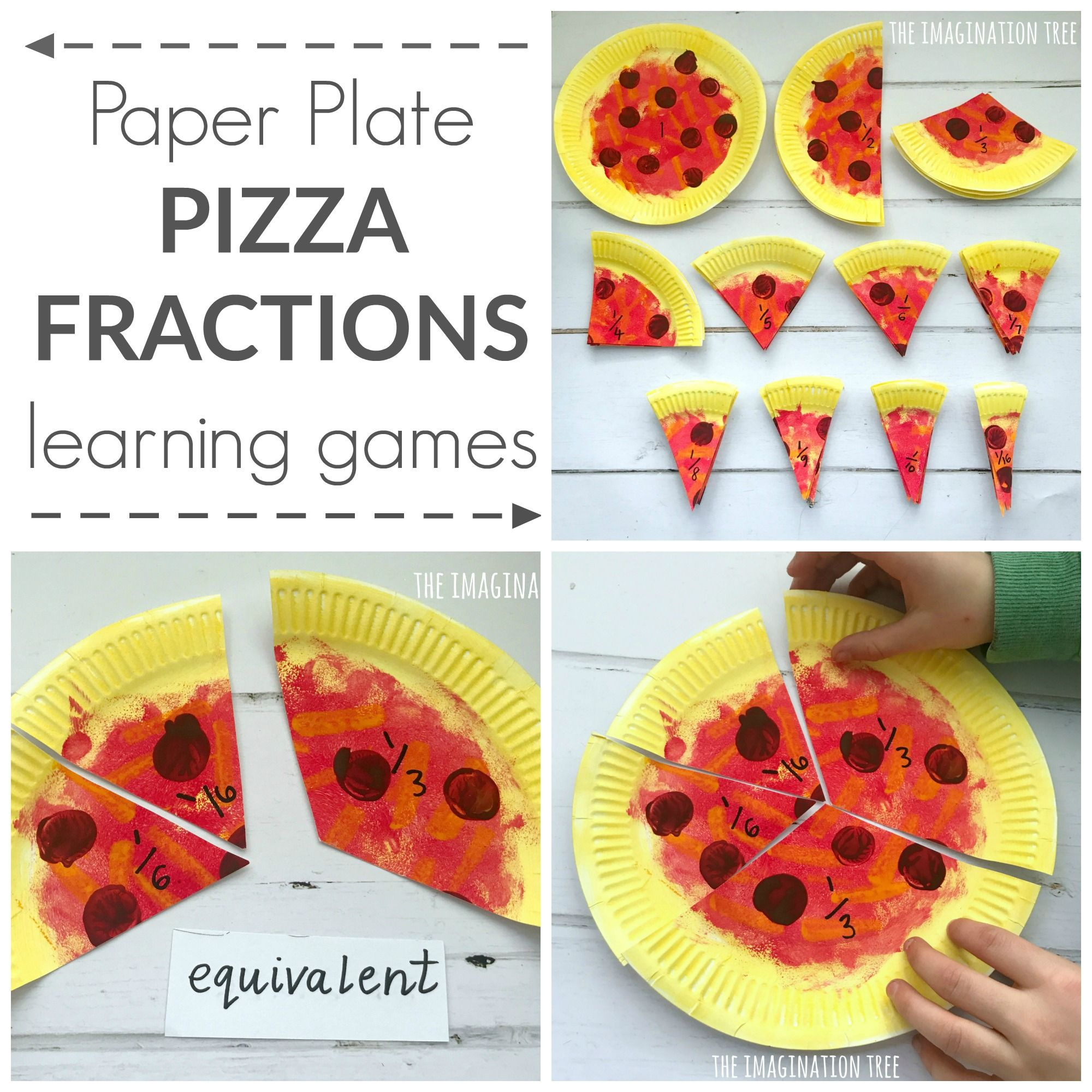 Paper Plate Pizza Fractions
