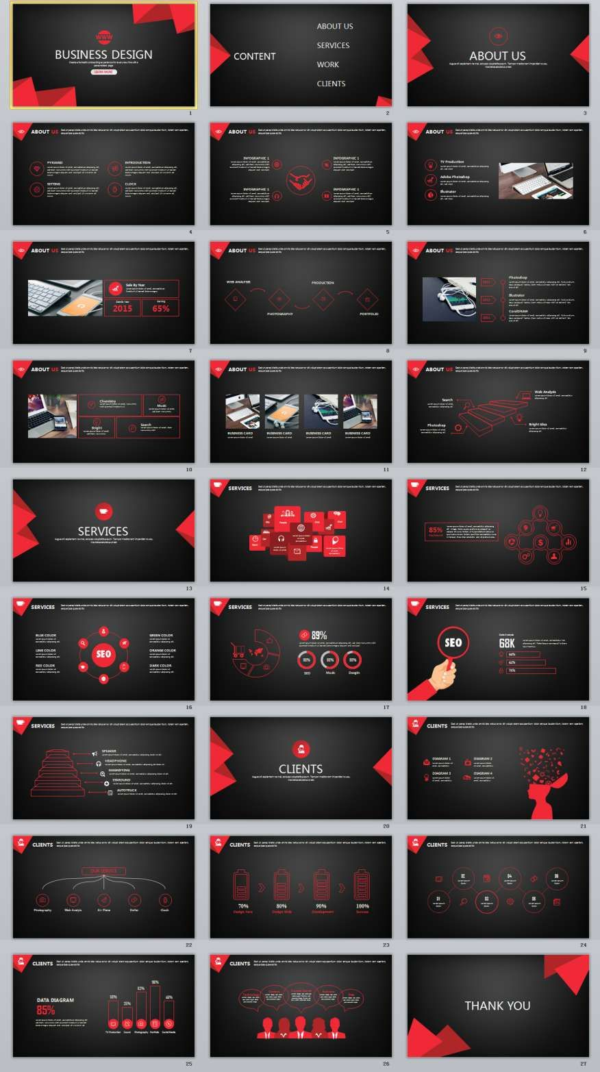 Red Black Business Powerpoint Template   Powerpoint