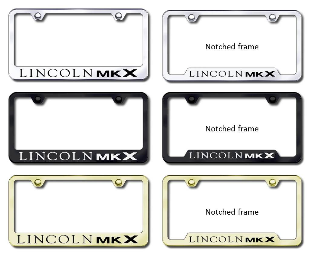 Lincoln MKX License Plate Frames (Tag Holders) | Just Love ...