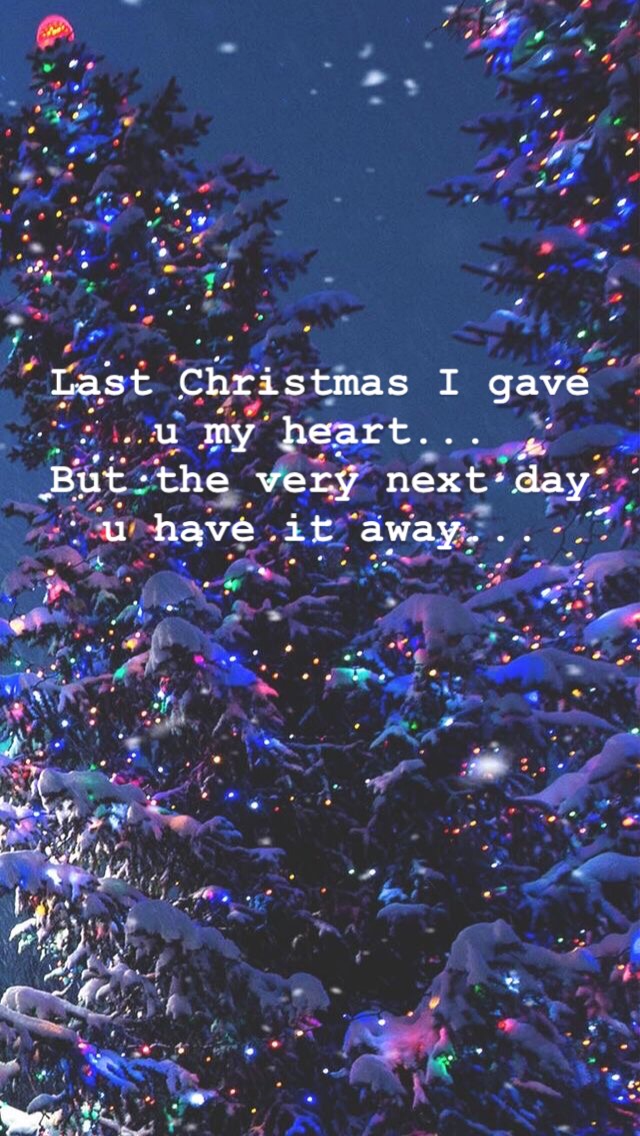 Wham! Wallpaper last Christmas song lyrics (With images