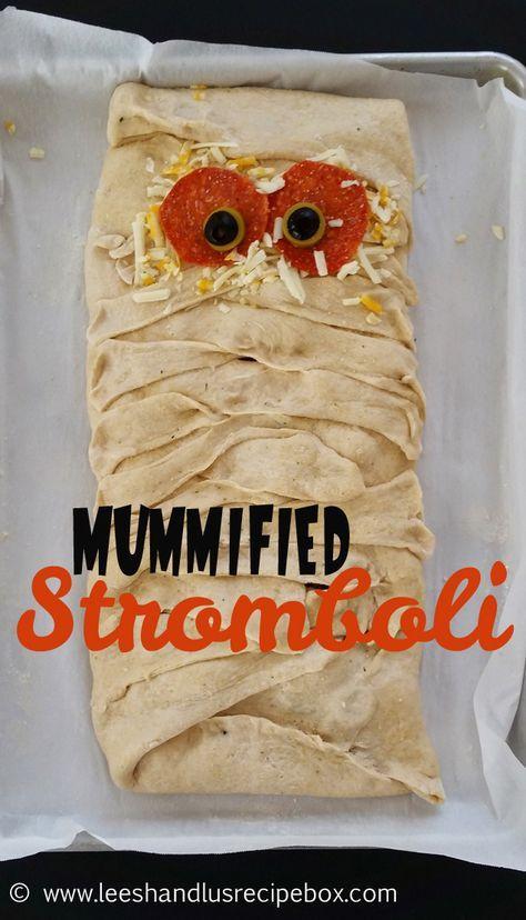 Mummified Stromboli #halloweendinner