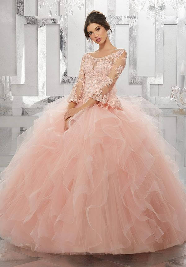 78dd3e66527 Vestidos de princesa para quinceañera Mori Lee